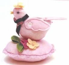 Anleitung - Bitty Bird Pincushion