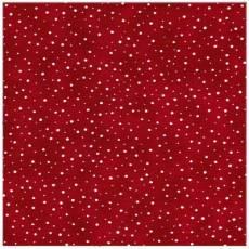 Quilters Basic weisse Tupfen auf rot