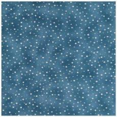 Quilters Basic weisse Tupfen auf  jeansblau