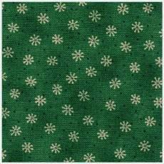 Quilters Basic weisse Sterne auf grün