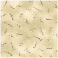 Quilters Basic Schrift natur allover