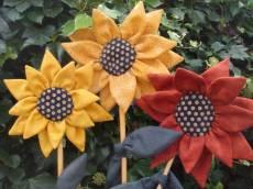 Anleitung Sonnenblumen Trio