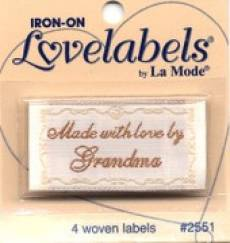 Love labels - Made with love by grandma