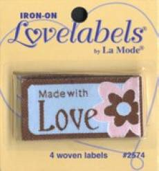 Love labels - Made with love