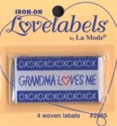 Love labels - Grandma loves me