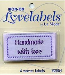 Love labels - Handmade with love