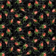Bouquet moderne floral black