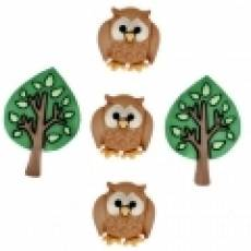 Knöpfe - Nighty Owls