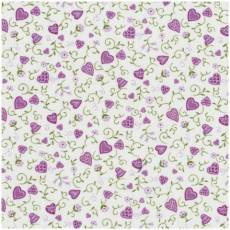 Quilters Basic Herzchen lila weiss