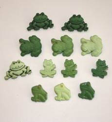 Knöpfe - Button Fun frogs