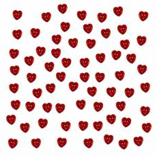 Knöpfe - Micro Mini red hearts