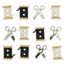 Knöpfe - Sew cute spools / scissors