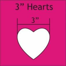 Schablonen 3 inch heart