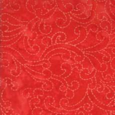 Bobbin and bits stitched scrolls red
