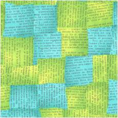 Quilters Basic news green blue
