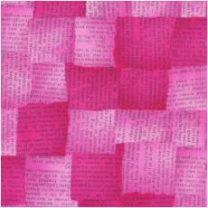 Quilters Basic news pink
