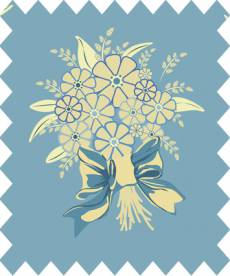 Country Chic Cottage blue bunch of flowers