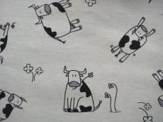 Leinendruck mit Kuh