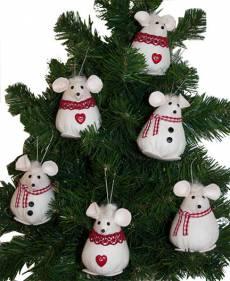 6 Christmice ornaments