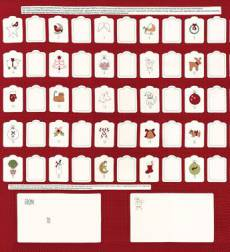 Mistletoe Lane Labels red