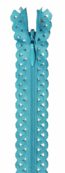 Spitzenreißverschluss 40 cm blautürkis