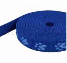 Gurtband Pfötchen blau 2 cm