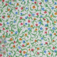 Floral scroll blue green