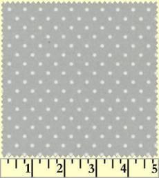 Woolies Flannel dots grey