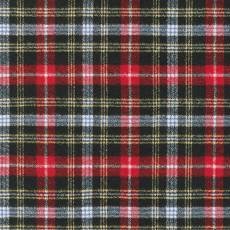 Shetland Flannel black white red yellow