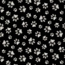 Paws black white