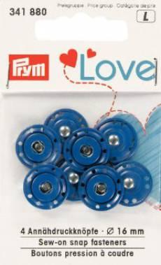 Prym Love Annähdruckknöpfe blau