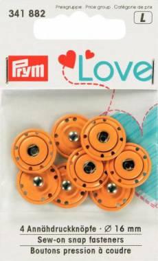 Prym Love Annähdruckknöpfe gelb