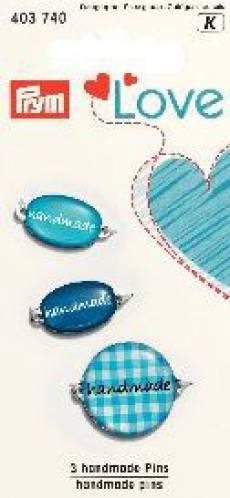 Prym Handmade Pins blau