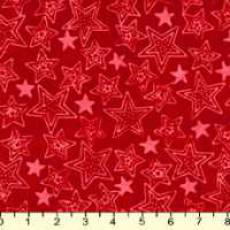 Hoffmann Bali Batik stars red