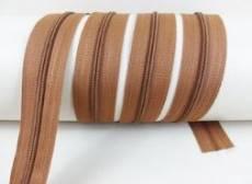 Endlos Reißverschluß 3 mm kupferbraun