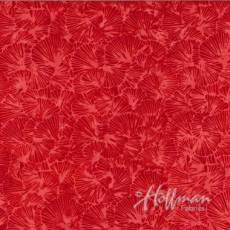 Bali Batik Handpaint gingko red