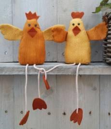 Anleitung Hahn und Henne