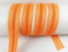 Endlos Reißverschluss 3 mm orange