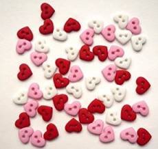 Knöpfe - Micro Valentine Hearts