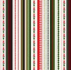 Christmas Modern Stripe Green