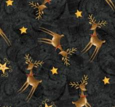 Santas Big Night, Debbie Mumm - Stars and Reindeer black