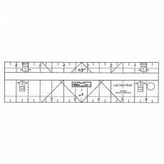 Bloc Loc Log Cabin Ruler 3/4 x 1 1/2 inch