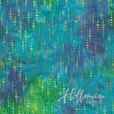 Hoffmann Batik Multi aqua string