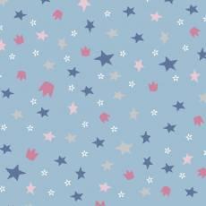 Avalana Jersey stars lightblue pastell