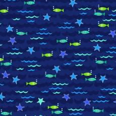 Alpha fish wave and fish