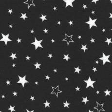 Cozy Flanell Stars black