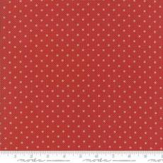 Farmhouse dots red ivory