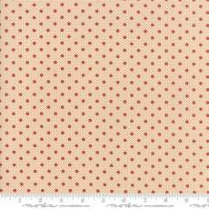 Farmhouse dots ivory red
