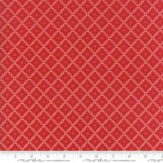Farmhouse diagonal mesh red