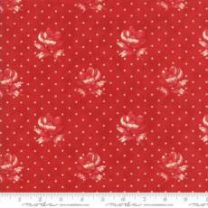 Farmhouse dots and roses red
